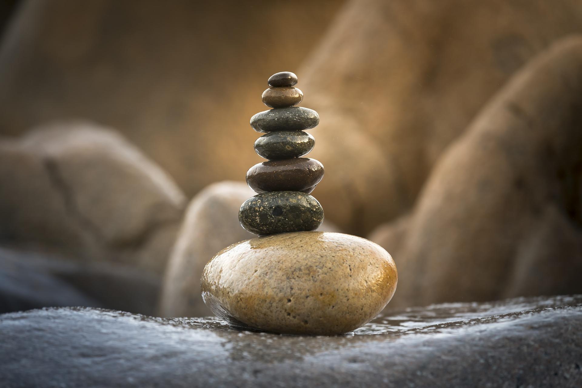 Kivet balanssissa